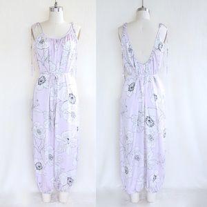 a9c9716f40ae Victoria s Secret Intimates   Sleepwear - Victoria s Secret Floral Satin  Jumpsuit